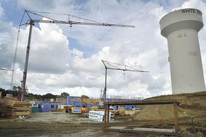 A new senior housing facility is under construction on Centerville Road in the shadow of a city water tower. The Excelsior-based developer, Oppidan, also built White Bear Marketplace on Buerkle Road.